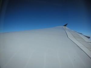 メインデッキから見たA380主翼