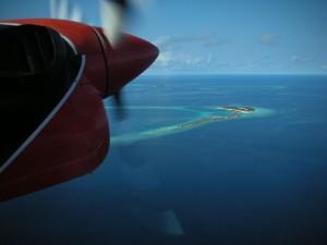帰路の水上飛行機より